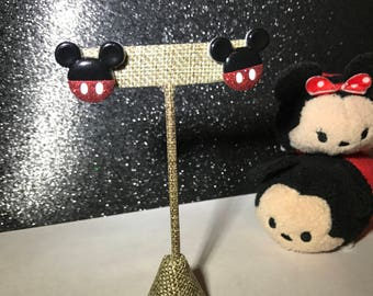 Classic Mickey Mouse Earrings // Glittery Silhouette Shorts // Disney Inspired Jewelry // Gifts for Disney Lovers under 10