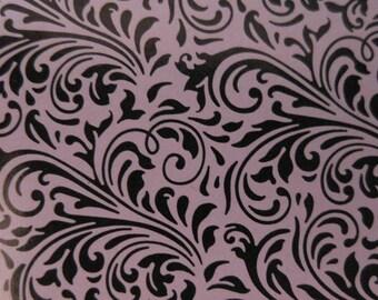 Flourish Embossed Blank Note Cards, Embossed Blank Cards, Embossed Blank Greeting Cards Set of 10