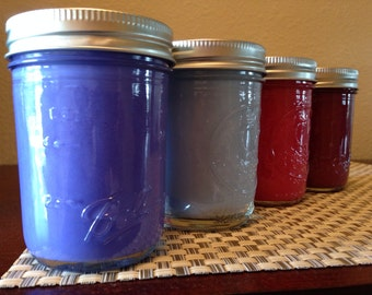Soy candles, 8 oz,  Ball Mason Jar Candle made with 100% Soy wax.   Chrislan Candles