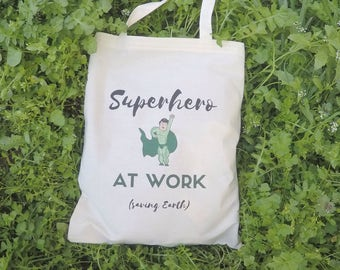 Vegan Tote Bag, Green Tote Bag, Canvas Tote Bag, Quote Tote Bag, Shopping Bag, Cotton Market Bag, Eco Canvas Tote Bag, Reusable Shopping Bag