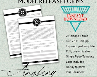 Model Release Forms for Photographers, Model Release for Minor, Photoshop Templates, Marketing Template