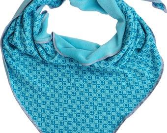 Triangle Towel/Scarf XL Blue Bella by Cherry & Magnolia