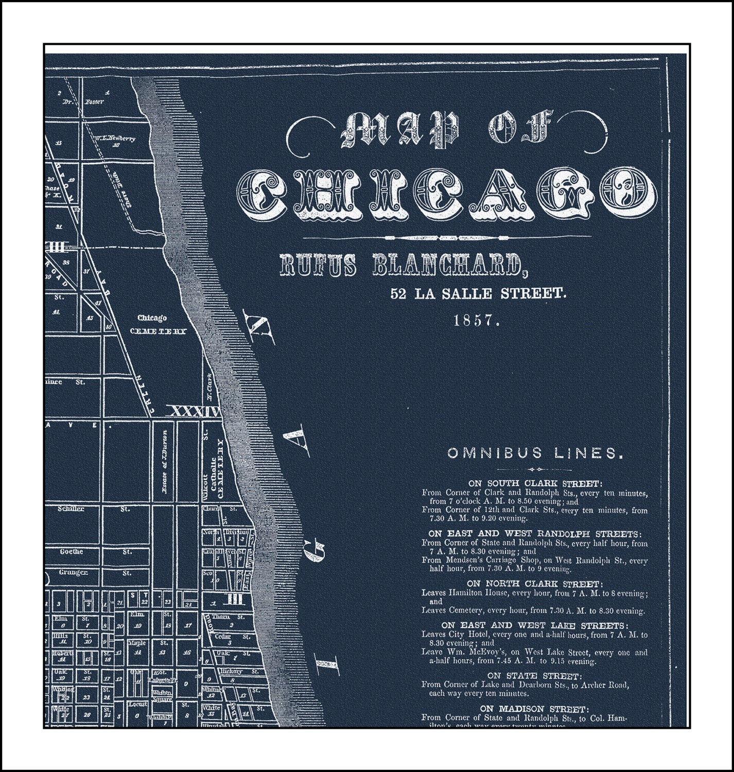 Chicago map map of chicago chicago street map blueprint zoom malvernweather Images