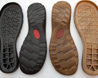 Rubber soles for your own projects Black and Brown- Supply for shoes, snow boots