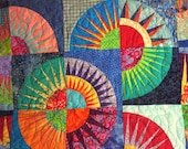 New York Beauty Quilted Wallhanging\/Lapquilt
