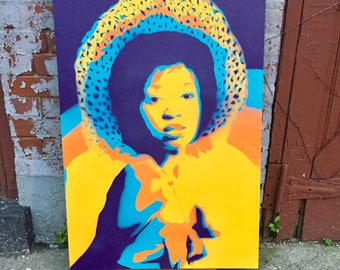 Graffiti art canvas, original design graffiti stencil art