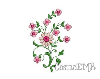 4 Size Flower Embroidery design Machine Embroidery - Digital INSTANT DOWNLOAD