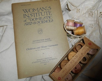 Womans Institute of Domestic Arts and Sciences Childrens and Misses Garments by Mary Picken 1920 Instructional Booklet