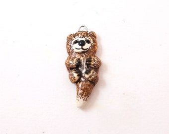 Polymer Clay Otter Pendant