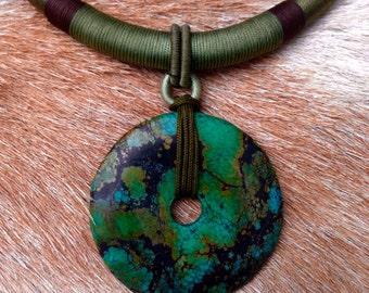 Jasper threaded necklace