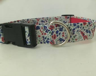 Liberty of London Fabric Dog Collar Fully Lined XS-XL