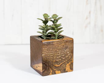 Succulent Planter | Wooden Planter | Small Succulent Pot | Home Decor |