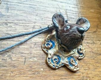 SALE Mouse pendant necklace Reduced