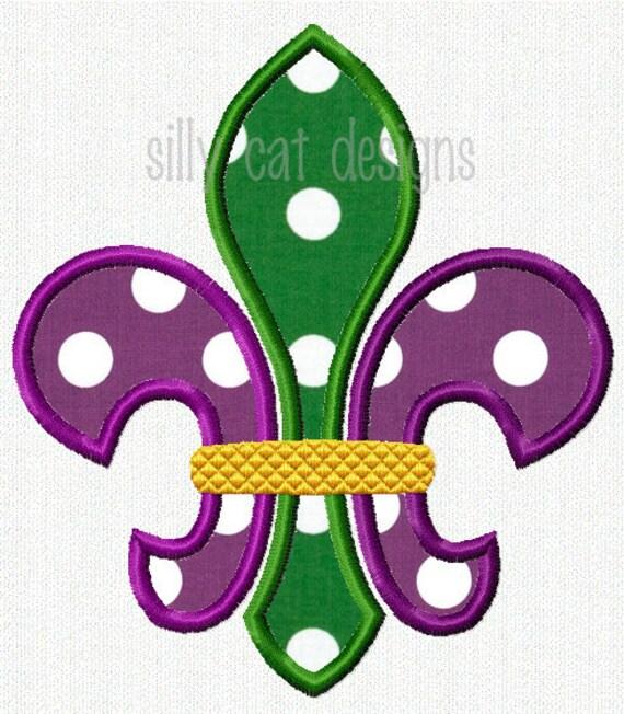 Mardi Gras Fleur De Lis Applique Design