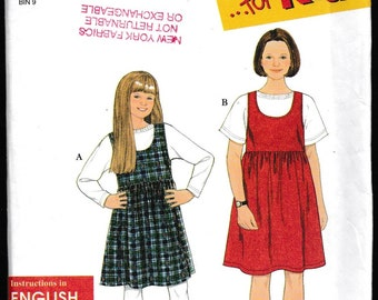 It's So Easy It's Simplicity 7323 for Kids Girls' Jumper and Knit Top