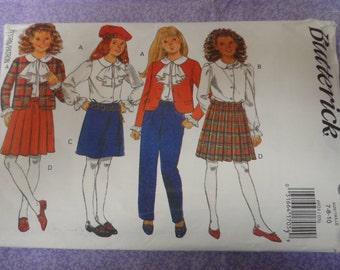 Butterick 6924 Girl's Jacket, Blouse, Skirt,Pants and Shirt Pattern Size 7, 8 , 10 UNCUT