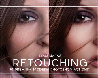 30 Professional Portrait Retouching Photoshop Actions Professional Photo Editing for Portraits, Newborns, Weddings By LouMarksPhoto