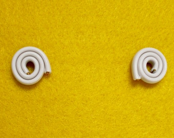 LANDLINES Upcycled White Statement Earrings