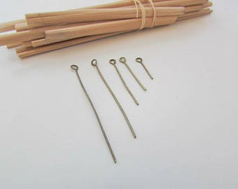 5 x 20 nail head rounded for 5 jewelry - bronze stem 4.5-3 - 2.4 - 1.6 cm - 1.4