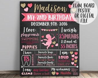 Valentine Birthday Chalkboard, Valentine Day Birthday Chalkboard Sign, Sweetheart Birthday Chalkboard, Valentine Chalkboard