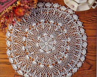 Doily Crochet Pattern, QUICK Simply White Doily Pattern, Summer Thread Crochet Pattern, INSTANT Download Pattern in PDF (1706)