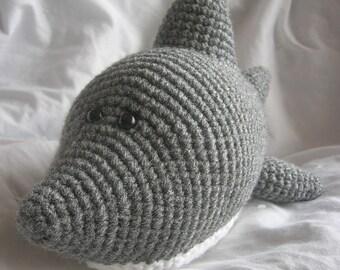Sam the Shark - Amigurumi Plush Crochet PATTERN ONLY (PDF)