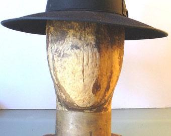 Vintage Borsalino Gangster Homburg Hat size 6 7/8