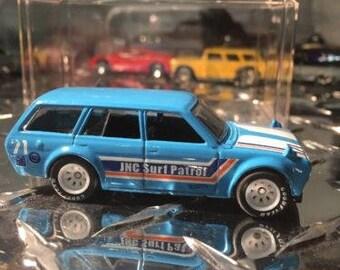 Custom Hot Wheels 71 Datsun Bluebird 510 Wagon Rubber Tires