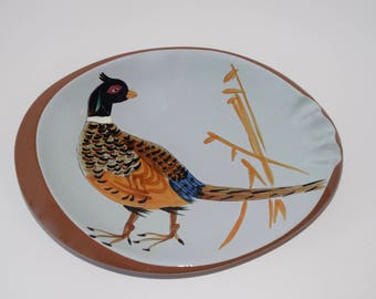 Adorable Stangl Pottery Sportsman Series Oval Pheasant Ashtray