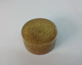 Gold flake resin ring blank