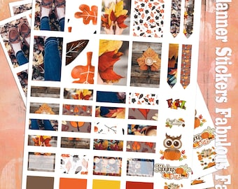 Fabulous Fall (Planner Stickers)