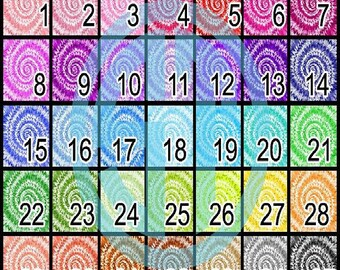 Tie Dye 2 Patterns printed indoor, outdoor, glitter and metallic decal VINYL or heat transfer vinyl HTV or applique FABRIC