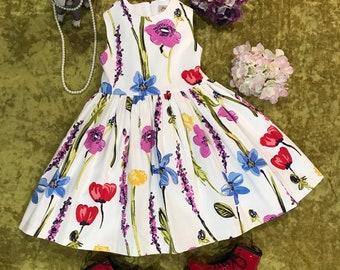 Bright Floral Dress - Jessica Ann's