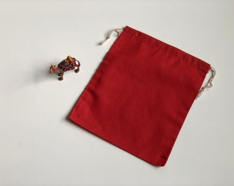 """50 pcs 10"""" x 12"""" RED Double Drawstring Bags - Red Velvet - Muslin Bags"""