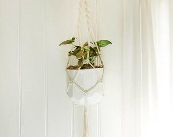 Macrame Plant Hanger - Calisto, Large - Medium Natural Cotton Rope Hanger, Hanging Planter | Made to Order |Free Shipping Australia