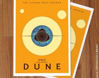 Frank Herbert Dune Poster Art Print