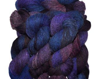 Hand dyed yarn - Alpaca / American wool yarn, Worsted weight, 240 yards - Apu-Illapu