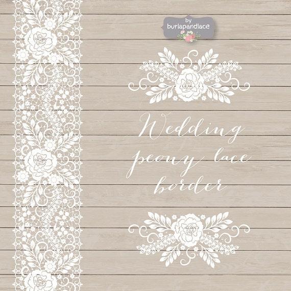 Vector wedding peony lace border wedding invitation border stopboris Image collections