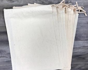 "10pcs, Sz 12x16"" Drawstring Muslin Bags"