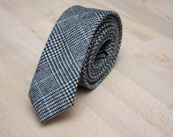 Grey Mens Tie TW210 Mens Wool tie BoomBow Handmade Men's necktie