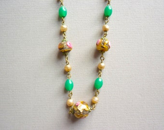 Lampwork Lady in Gold