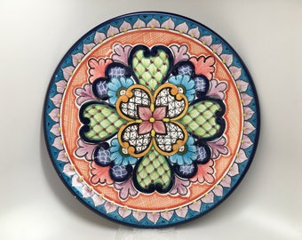 Mexican Talavera Plate for Lovely Dinner
