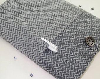 Gray Herringbone MacBook Air Case, MacBook Air Sleeve, MacBook Air 13 Case, MacBook Air 13 Sleeve, 13 Inch MacBook Air Sleeve
