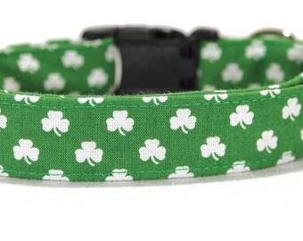 S/M/L - Adjustable St. Patrick's Day Fabric Dog Collar