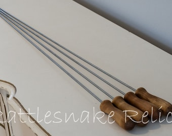 Marshmallow Roasters - Stainless Steel with Wood Handles - Set of 4