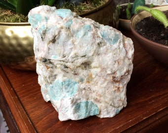Amazing Amazonite & Mica in Matrix Rock Crystal