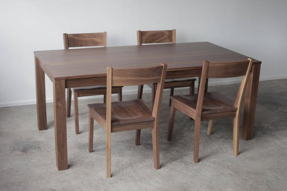 Etonnant Solid Wood Parsons Dining Table Solid Top Or Extension