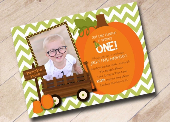 Our little pumpkin first birthday invitation fall autumn filmwisefo