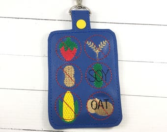 Multiple  Allergy Alert Clip On Tag for backpacks - medical alert - teacher alert - nonverbal communication -Allergy Awareness