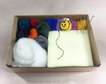 Beginner Needle Felting Kit, DIY Kit, Felting Kit